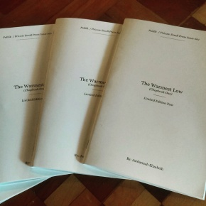 Jordannah Elizabeth Premieres New Book The Warmest Low (ChapbookOne)